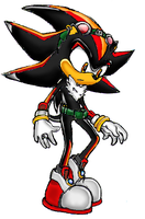 Shadow - SNI Sonic Team Style by Chaos-Flower