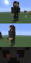 My Minecraft Statue by NeonBlacklightTH