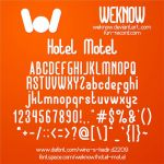 Hotel Motel font by weknow by weknow