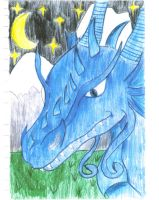 blue dragon by serpentscorch3422