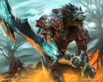 Worgen Death Knight by StephenCrowe