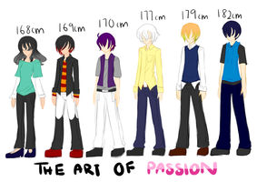 Height and Outfits by Ayza-chan