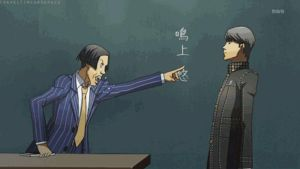 Yu is being yelled at -GIF- by World-Detective-L