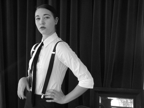 Suspenders And Disdain by Lady-of-Slaughter