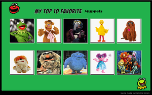 My Top 10 Favorite Muppets by ChipmunkRaccoon2