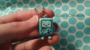 Adventure Time BMO Charm--- FOR SALE by BeppasCreations