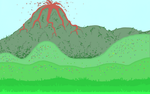 Volcano Landscape by tinmoonlittle