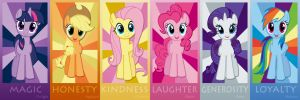 Mane 6 Poster by Waranto