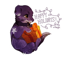 Secret Santa 2013: snow--wolf by Magicpawed