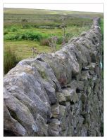Dry Stone Wall on the moors by sicklittlemonkey