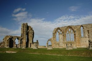 Whitby Abbey Ruins by astrogoth13