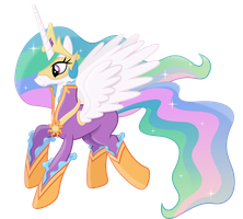 Princess Celestia as a Power Pony by 90Sigma