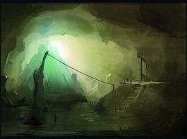 The Iceberg Cave by gizmodus