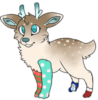 Christmas Deer Auction CLOSED by qhostpaws