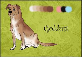 Goldust Reference Sheet by Silvernish