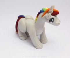 Little Rainbow Unicorn by LitefootsLilBestiary