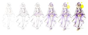step by step Magical Girl Krystelle (contest entry by zenshinibuu