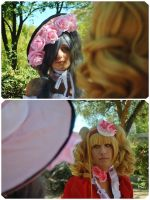 Lady Ciel and Lady Elizabeth - Furtive glances by ALIS-KAI