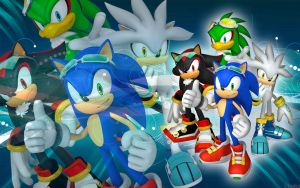 Sonic, Shadow, Silver And Jet - SFR - Wallpaper by SonicTheHedgehogBG