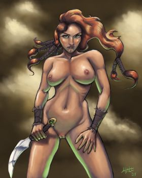 Barbarian Girl Nude by umbrafox