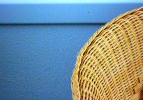 blue with a wicker chair by st2wok