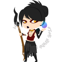 DAO Chibi, Series 1 - Morrigan by Destined2Rock