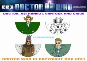 Doctor Who - The Doctor and Co. by mikedaws