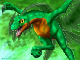 Realistic Grovyle by Tacimur