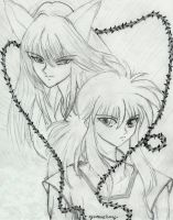 Youko and Kurama by Kuune