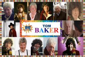 Happy 80th Birthday Tom Baker [Doctor Who] by DoctorWhoOne