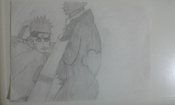 Naruto is kicking Pain(Traditional) by BKASSASSIN
