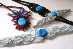 Works with self-sculpted fimo stones by nimuae