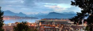 Sunset Lucerne by sivousplay