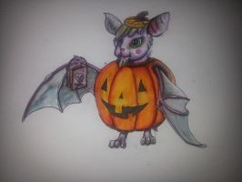Pumpkin Bat by CatFury