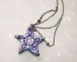 Starfish Swarovski Necklace by PixiesLot