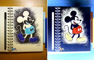 Inverted Mickey Mouse Drawing by PandorasBox341