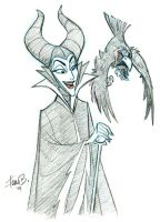 Patreon Sketch Request of the Week: Malificent by tombancroft