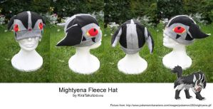 Mightyena Fleece Hat by KiraTakuto