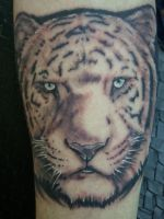 White Tiger by Gabe Alvarez by BrokenCloverTattoo