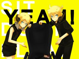 Vocaloid: SIT DOWN PLEASE by KawaiiPandah