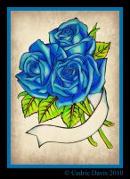 Three Roses-Blue: by PrinceDamian92