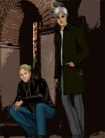 Anders and Fenris - modern by channet
