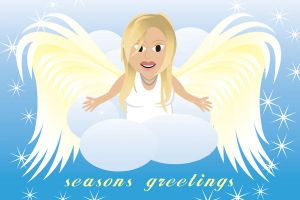 Eloquent Angel Christmas Card by andart