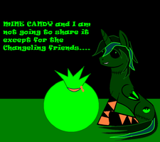 Seth giving out candy for all the Changeling by BlackCherry1994