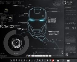 Rainmeter Iron Man Tech by Larcx94