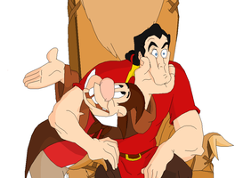 MS Paint - Gaston And Lefou by movie2kaza