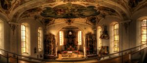 Inside the Church Wide view by Eagle86