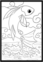 Fish Coloring Page 5/5 by holyhell111