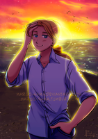 [Commission][APH] French sunset by Margo-sama