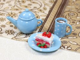 Miniature crockery and food by OrionaJewelry